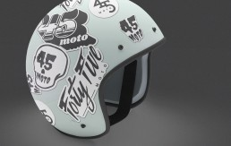 Forty Five Moto Helmet Stickers
