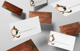 Quick Brown Fox Business Cards